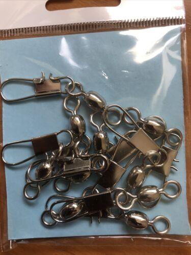 Crane Interlock Snap émerillons-Taille 1//0-52 mm-Pack de 10