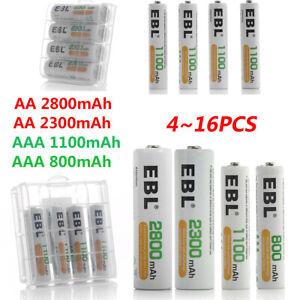 EBL-Lot-AA-AAA-NI-MH-Rechargeable-Batteries-2800mAh-2300mAh-1100mAh-800mAh-Box