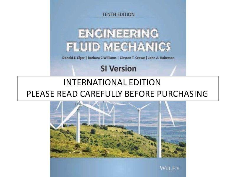 Engineering Fluid Mechanics Crowe 10th Edition Pdf