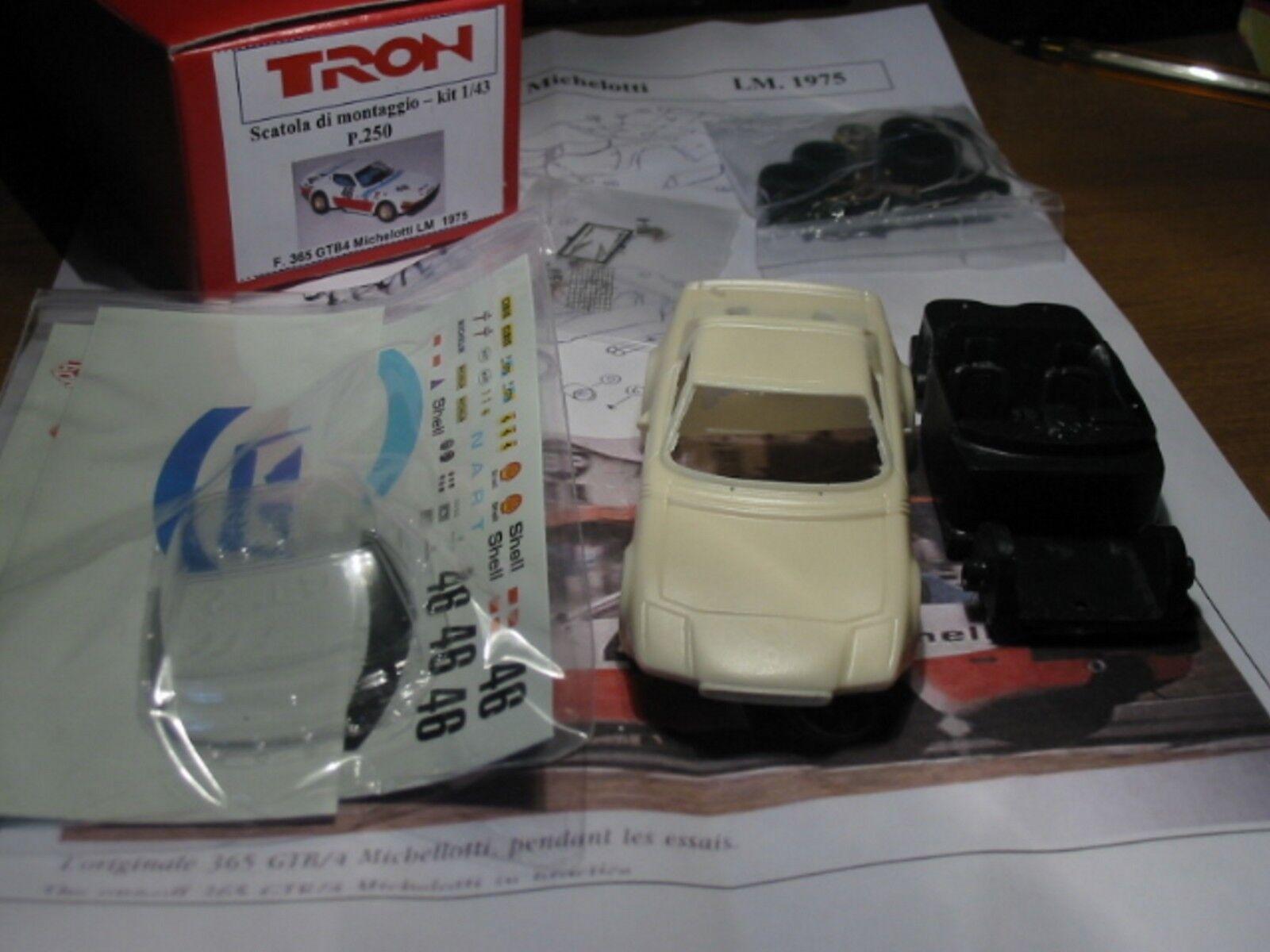 mejor marca kit kit kit Ferrari 365 GTB 4 Michelotti NART  46 Le Mans 1975 - Tron Models kit 1 43  solo cómpralo