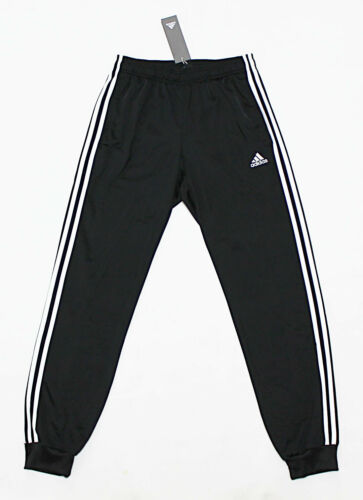 NWT ADIDAS Black-White Cuffed Men/'s Track Pocket Pants Small sweatpants jogger