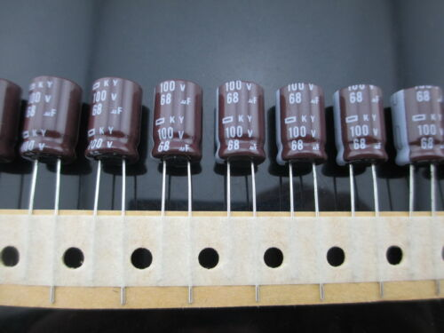 102pcs Nippon Chemi-Con NCC KY 68mfd 100V 68UF electrolytic Capacitor