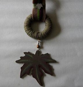 Kreatives Gestalten Trendmarkierung Dekoration Türschild Türkranz Wanddeko Herbst Ahornblatt Holz SchöN Und Charmant