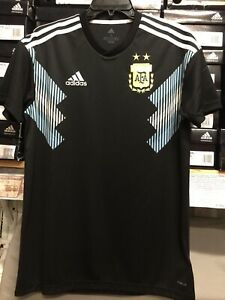 Details about Adidas Argentina Away Jersey 18-19 Black Size Large Only