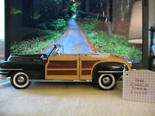 FRANKLIN MINT 1:24 1948 CHRYSLER WOODY TOWN & COUNTRY Limited Edition DieCast