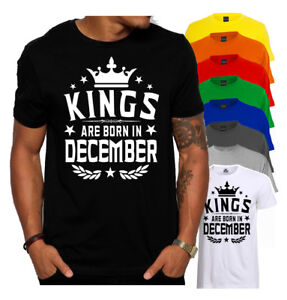 Image Is Loading Kings Are Born In December Men 039 S T