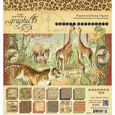GRAPHIC 45 ~ SAFARI ADVENTURE ~ 8x8 Paper Pad