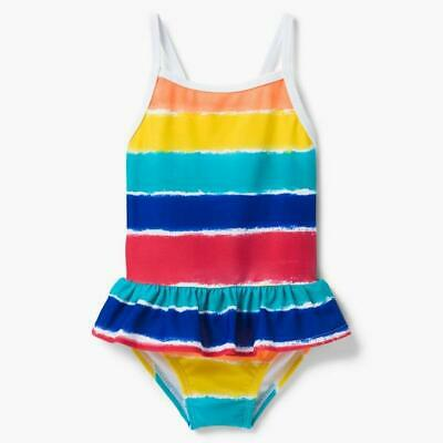 NWT Gymboree Toddler Girl Rainbow Striped One Piece Swimsuit 2T or 3T