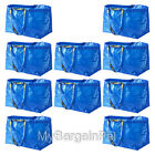 LOT OF 10 IKEA NEW LARGE REUSABLE SHOPPING BAG - LAUNDRY TOTE - GROCERY  FRAKTA