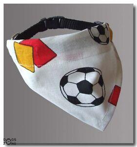 Hundehalstuch-DEUTSCHLAND-Halband-Halstuch-Flagge-WHITE-FOOTBALL
