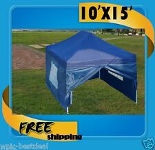 10'x15' Pop Up Canopy Party Tent EZ - Navy Blue - F Model - Upgraded Frame