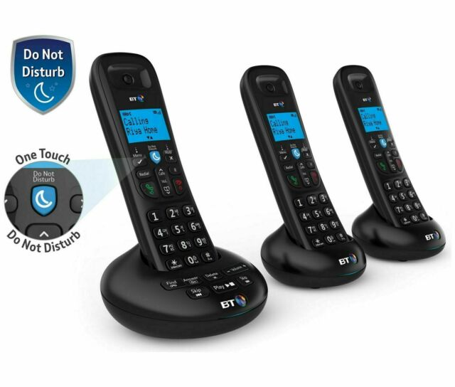 BT 3570 Trio Cordless Telephone with Digital Answer Machine Speaker & Caller ID