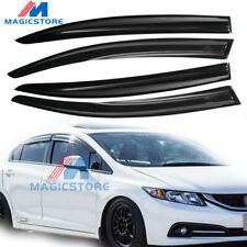 For 2012-15 Civic Window Visors Mugen II Style Sun Rain Guard Defectors FB6 4DR