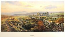 "REX PRESTON ""Evening in the Dales"" yorkshire LE SIGNED! SIZE:50cm x 83cm NEW"