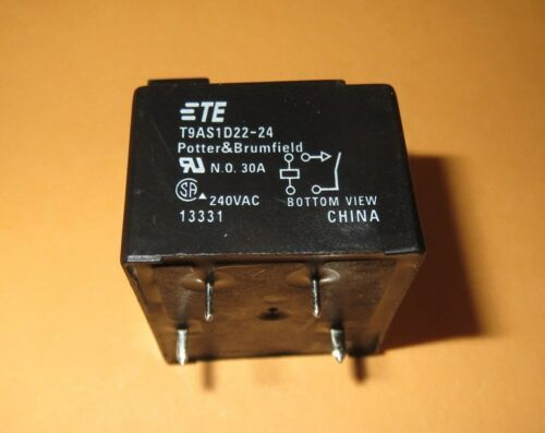 PC BOARD POTTER /& BRUMFIELD  T9AS1D22-24  POWER RELAY SPST-NO 24VDC 30A