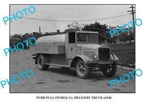 OLD-LARGE-PHOTO-OF-PURR-PULL-OIL-Co-TRUCK-c1940-SYDNEY