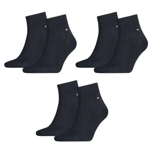39-46 Herren Business Sneaker Socken 6 Paar TOMMY HILFIGER Quarter Socken Gr