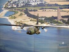 POSTER esercito Tedesco Luftwaffe AEREO trasporto Transall c-160 - DIN a2-NUOVO