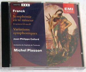 FRANCK-C-SYMPHONY-IN-D-MINOR-VARIATIONS-PLASSON-CD-Nuovo-Unplayed
