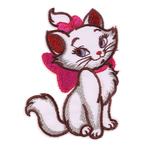 """The Marie Cat Embroidered Iron//Sew ON Patch Cloth Applique 3.3x2.5/"""""""