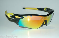 Black / Yellow Radar Lock Sunglasses Durable - Flexable Active Wear - Extra Lens