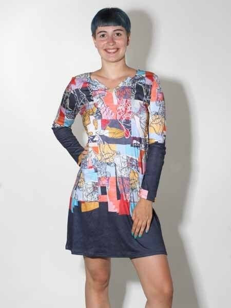 -10% Kleid von Aventures des toiles, Gr. 38 40 42 44 Kunst und Mode Passage