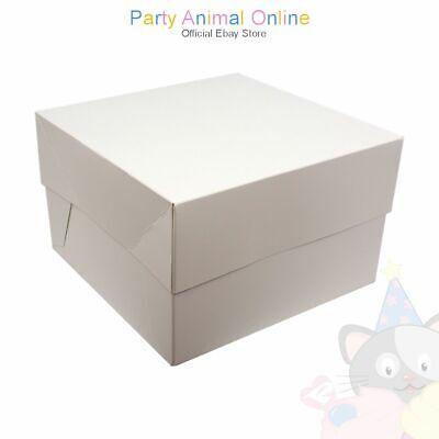 Phenomenal White Cake Boxes 6 Inch Deep Box Lid For Wedding Birthday Funny Birthday Cards Online Inifofree Goldxyz