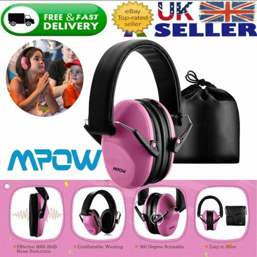 Mpow Folding Ear Defenders SNR 29dB Protectors Hearing Safety Kids Girl Shooting
