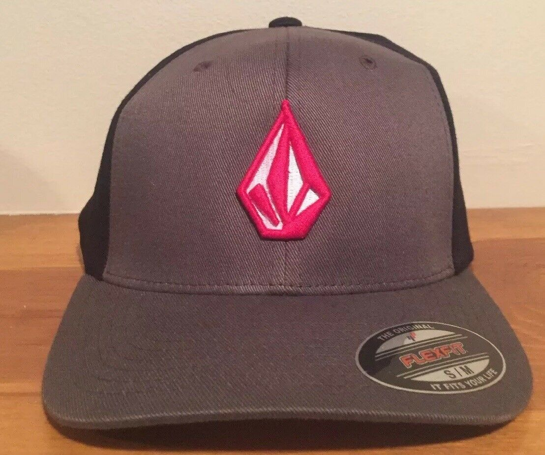Volcom Full Stone Stretch Fit Gray Hat Small-Medium Cap Size Small-Medium Hat Flexfit 3a556d