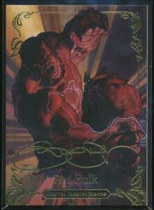 2018-Marvel-Masterpieces-Gold-Foil-Trading-Card-47-Red-Hulk-Tier-2