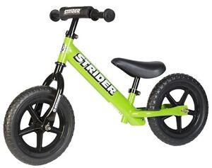 STRIDER-12-Sport-Kids-Balance-Bike-No-Pedal-Learn-To-Ride-Pre-Bike-GREEN-NEW