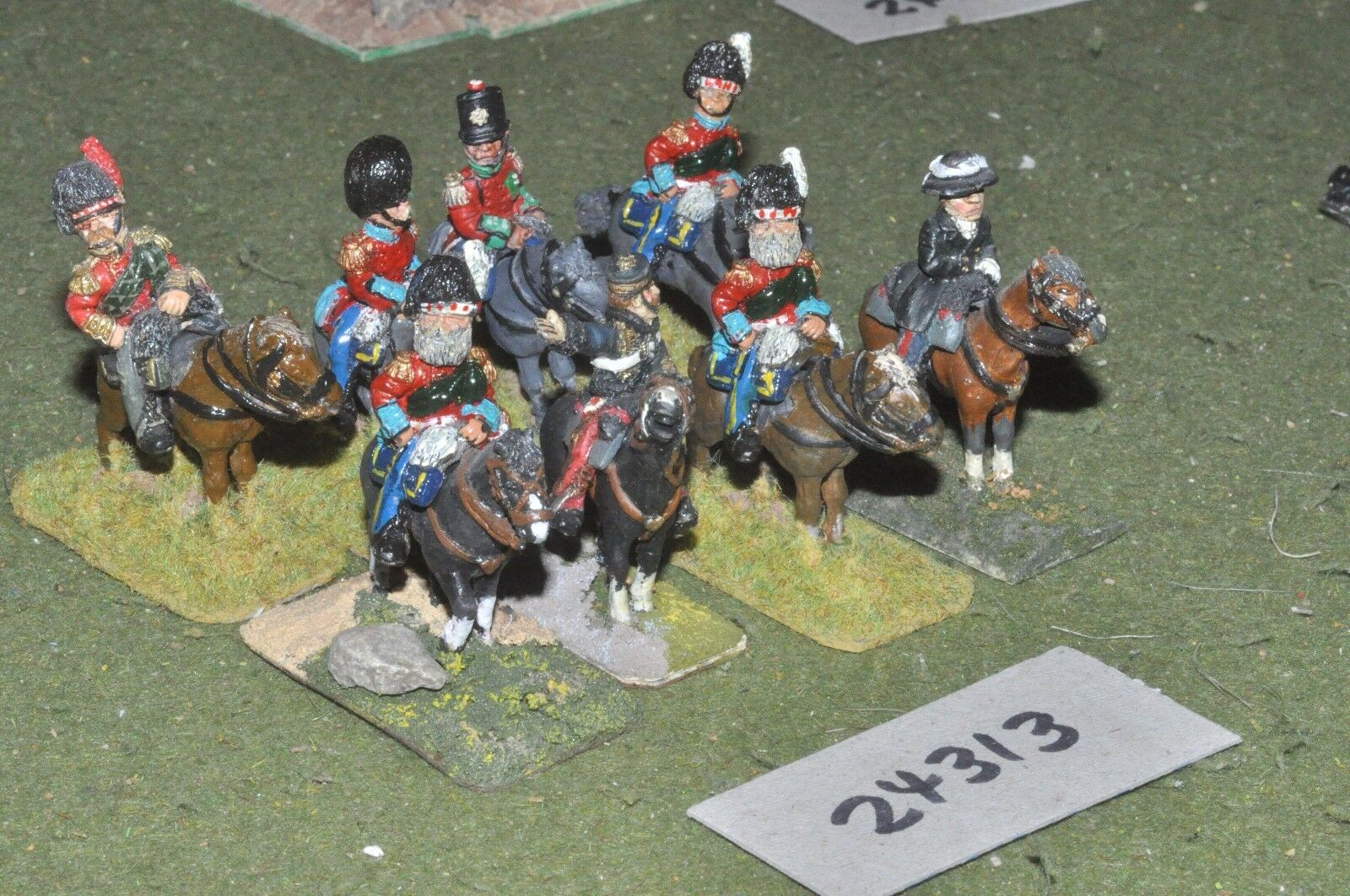 28mm 19th century   british - crimean officers 8 figures - command (24313)