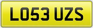 LOU-039-Z-NEAT-NEW-STYLE-PRIVATE-REG-NUMBER-PLATE-LO53-UZS-ALL-FEES-PAID-LOUISE-LOU