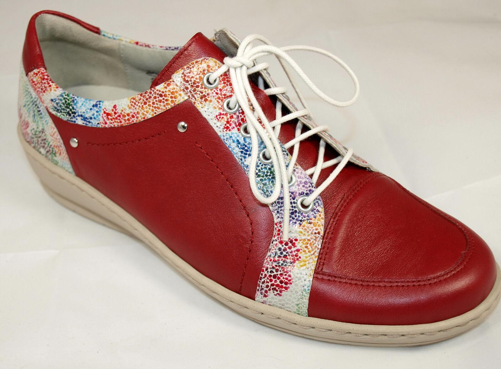 Waldläufer Schuhe Damen Leder Weite K rot Schnürschuhe Neu 878 4   eBay 8d54dbecbc