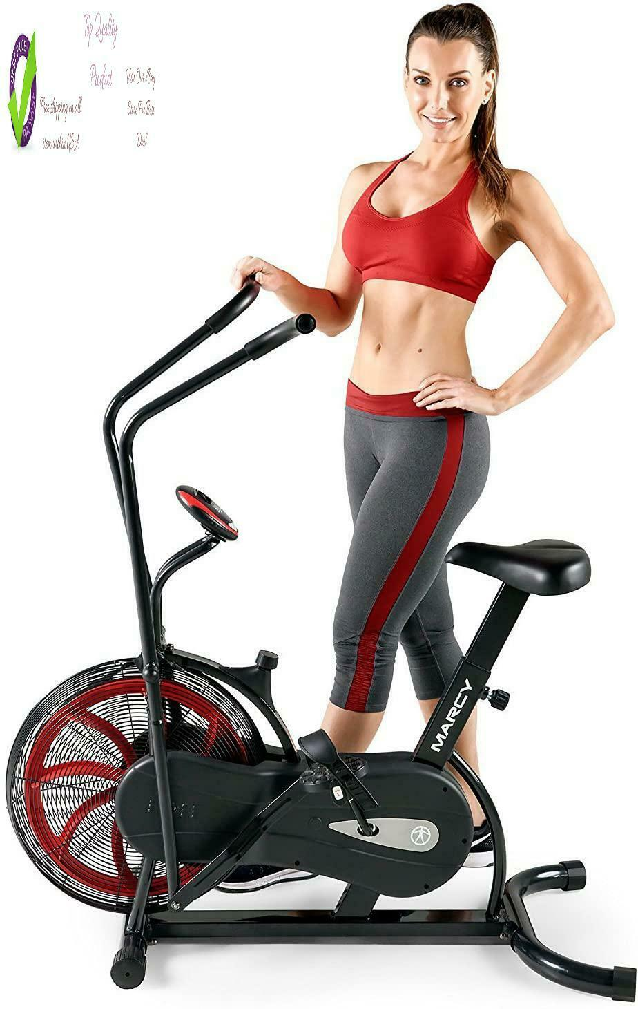 Marcy Fan Exercise Bike With Air Resistance System –  And Black – Ns-1000 air bike black exercise fan marcy resistance system with