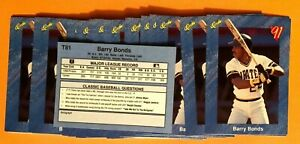 50-BARRY-BONDS-Pittsburgh-Pirates-1991-Classic-BLUE-Baseball-Card-T81-LOT