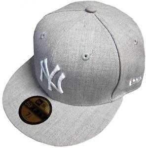 New-Era-New-York-Yankees-Cap-Heather-grey-grey-MLB-59fifty-Basic-Fitted-Basecap