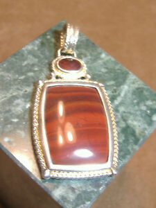 VINTAGE-RECTANGULAR-AGATE-AND-AMBER-STERLING-SILVER-PENDANT-2-034-LONG