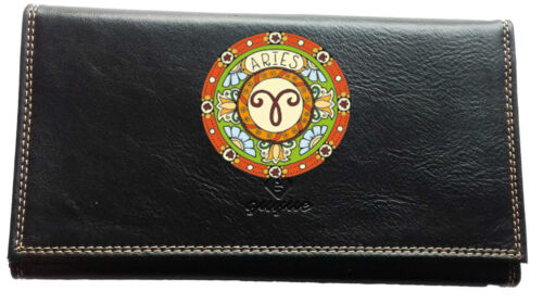 Porte Chequier ou compagnon ou porte monnaie ou porte carte grise signe Belier