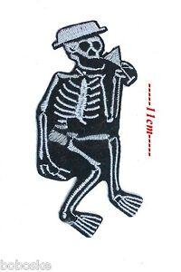 "Patch à coudre ou à coller au fer à repasser /""/""Squelette/""/"""