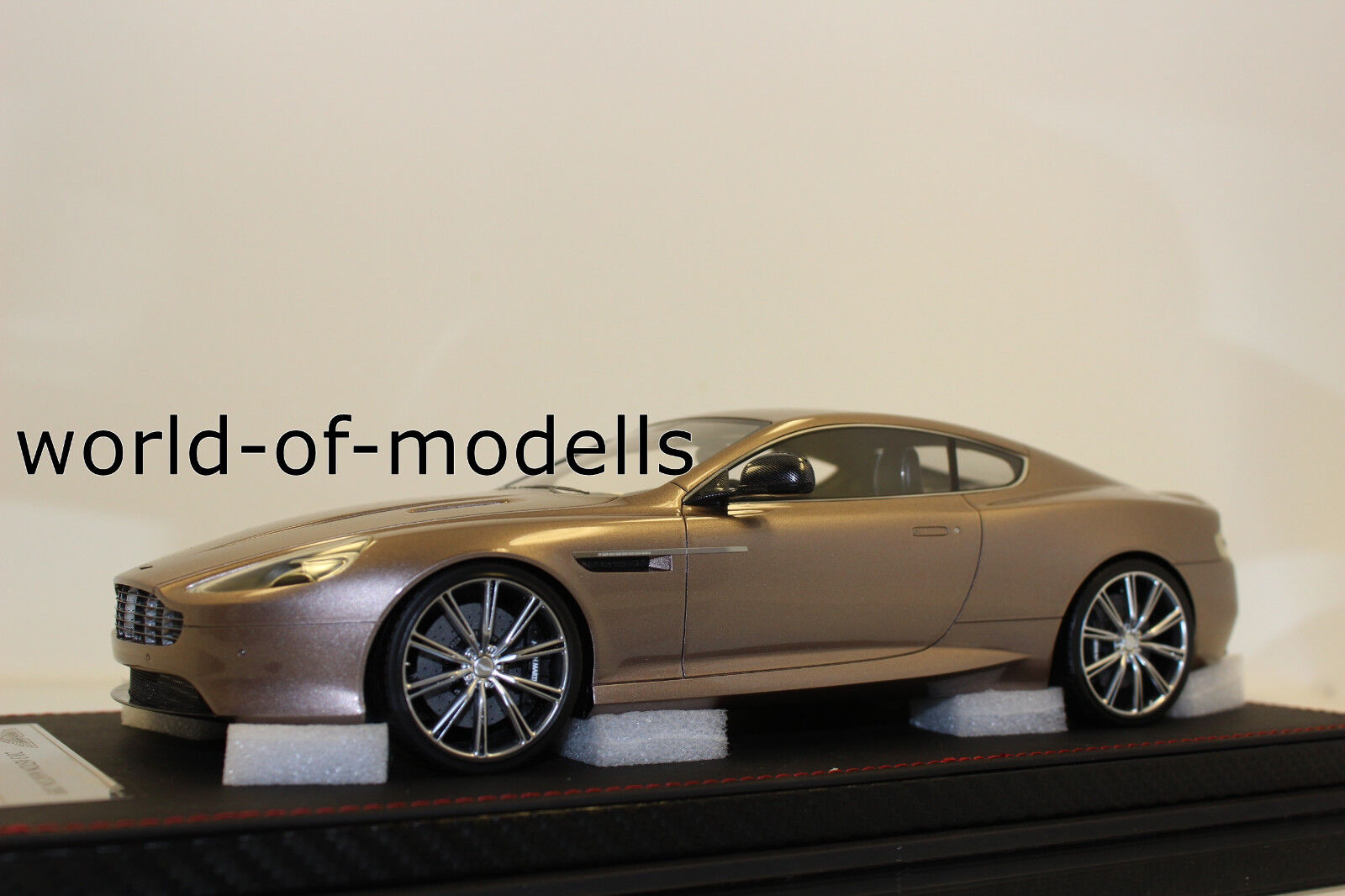 FrontiArt f026-49 ASTON MARTIN DB9 Champagne Grey 1 18 NEW WITH ORIGINAL BOX