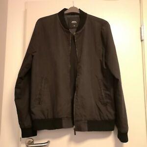 Burton-Menswear-London-Black-Bomber-Jacket-Mens-XL-Indie-Vintage-Great-Condition