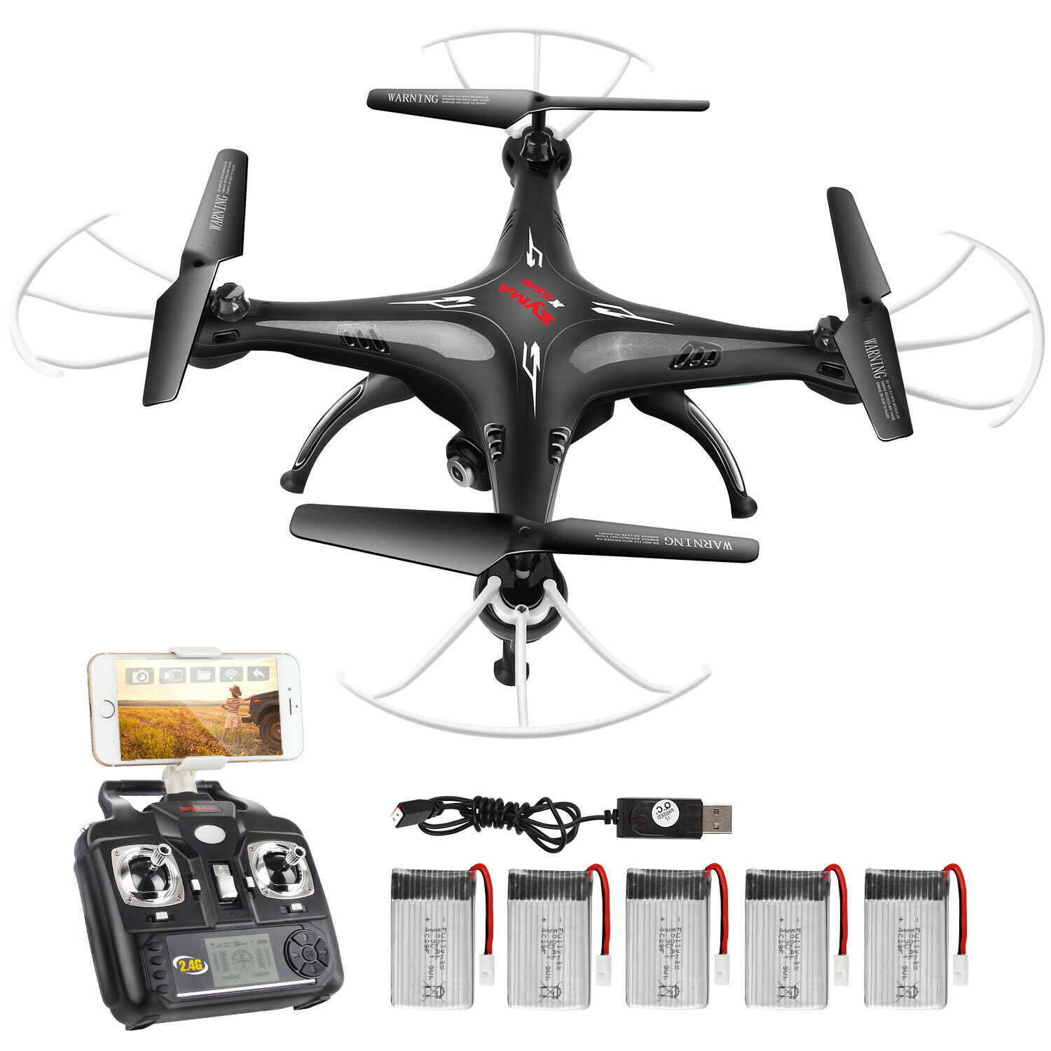 SYMA X5SW RC Quadcopter 2 4G 6-Axis Drone FPV With Camera Flip LED