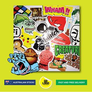 50PCS-Sticker-Bomb-Random-Decals-Pack-Lot-JDM-Skateboard-Logo-amp-Cartoon-Stickers