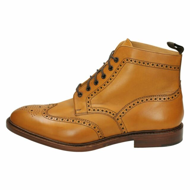 687df47da8350 Mens Loake Brogue Lace up Leather BOOTS - Burford 2 UK 12 F Tan for ...