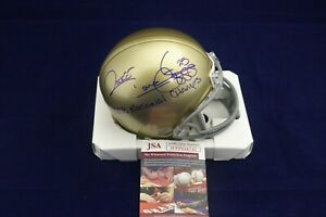 Rocket-Ismail-Signed-Notre-Dame-Mini-Helmet-w-1988-National-Champs-JSA-WPP