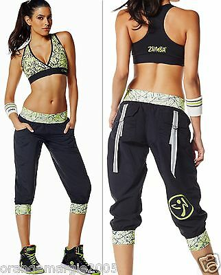 Zumba Fitness 2 Piece Set! Clothing, Shoes & Accessories Cargo Capri Capris Pants & V Sports Bra Top Z1b0019 Possessing Chinese Flavors Women's Clothing