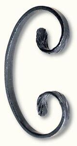 20 Volutes Patte D'oie H 150 Mm Forme C Fer Forgé PréVenir Le Grisonnement Des Cheveux Et Aider à Conserver Le Teint