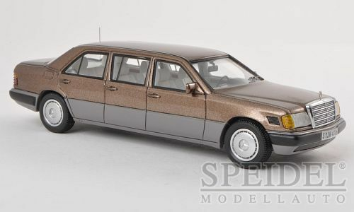 MERCEDES w124 v124 Stretch Limousine lungo versione Marrone NEO highenddetail resin 1:43