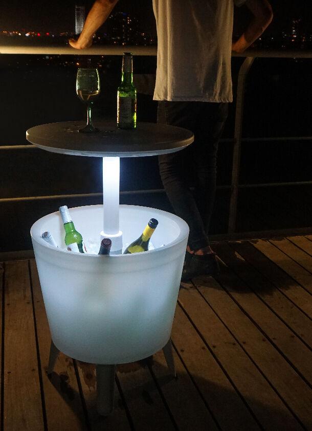 Keter 17204184 Illuminated Cool Bar Stehtisch